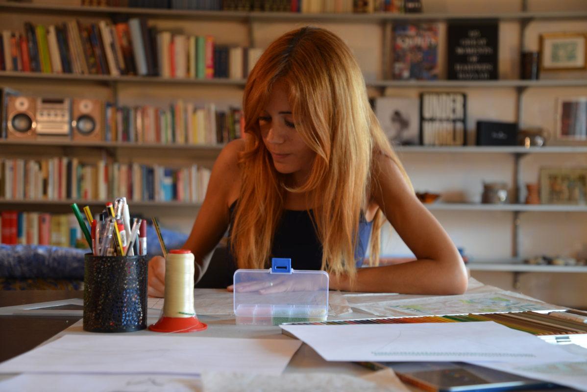 """Serenella Vaccarini - Stage Formativo """"Ricamatrice artistica di Alta Moda"""", """"House of Silence"""", Tolentino."""